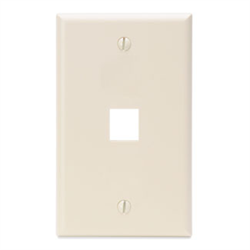 Leviton Quickport 1 Port Wallplate - Light Almond