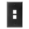 Leviton Quickport 2 Port Wallplate - Black
