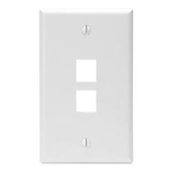 Leviton QuickPort 2 Port Wallplate - White