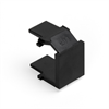 Leviton Quickport Blank Inserts Black (Ebony)