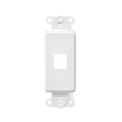 41641 W Leviton Decora Quickport Plate 1 Port