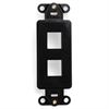 Leviton Decora Quickport Insert 2 Port Black