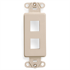 Leviton Decora Quickport Insert 2 Port Ivory