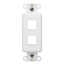 Leviton Decora Quickport Plate 2 Ports White