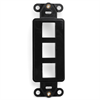 Leviton Decora Quickport Plate 3 Ports Black