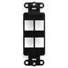 Leviton Decora Quickport Insert 4 Port Black