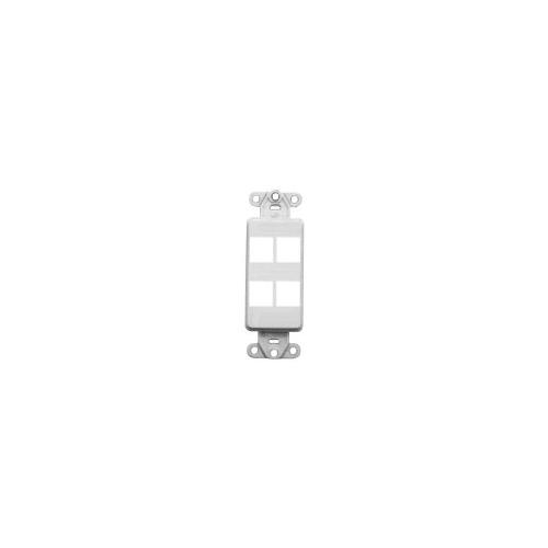 41644 W Leviton Decora Quickport Plate 4 Ports