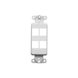 Leviton Decora Quickport Plate 4 Ports White