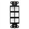 Leviton Decora Quickport Plate 6 Ports - Black