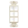 Leviton Decora Quickport Plate 6 Ports - Light Almond
