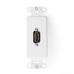 Leviton Decora HDMI to HDMI Plate White