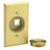 Leviton Quickport Floorplate Assembly Brass With 2 Ivory Quickport Ports