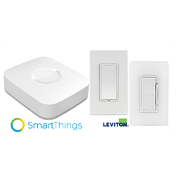 Leviton SmartThings Hub Starter Kit with Zwave In Wall Switch and In Wall Dimmer