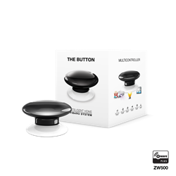 Fibaro The Button Zwave Battery Powered Device and Scene Control Button, Black