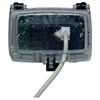 Intermatic Single Gang Horizontal In Use Weatherproof Receptacle Cover, Clear