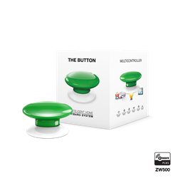 Fibaro The Button Zwave Battery Powered Device and Scene Control Button, Green