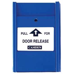 Camden Pull Station, Pull For Door Release, Blue, 1 x NC, 1 x NO