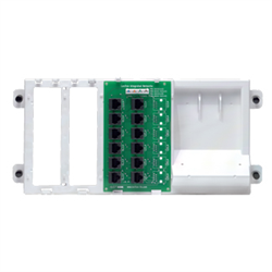 Leviton 4x12 Telephone Distribution Board on Plastic Bracket
