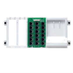 Leviton 4x18 Telephone Distribution Board on Plastic Bracket