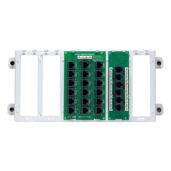 Leviton 4x18 Telephone Distribution Board on with 1 CAT5E Board
