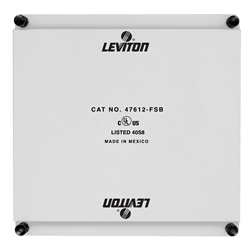 Leviton Half Width Universal Security Plate for SMC