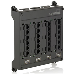 Leviton Twist and Mount 24 Port CAT6 Patch Panel