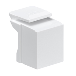 Leviton Quickport Blank Inserts White, 10 Pack