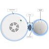 Additional images for Ecolink Firefighter Wireless Smoke and CO Detector Audio Sensor for DSC 433 MHZ