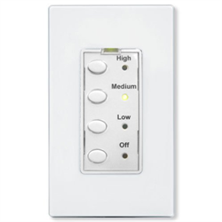 Simply Automated UPB 3 Speed Fan Controller with White Face