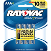 Rayovac AAA Alkaline Batteries, 4 Pack