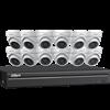 Dahua IP Security Camera System, 16 Channel 4K NVR, 12 x 4MP Eyeball Cameras