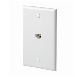 Leviton Quickplate Decora Style 1 CAT5E Data Port - White