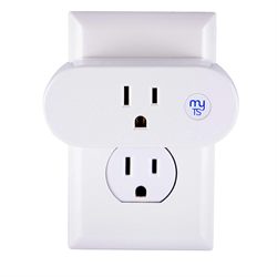 myTouchSmart Simple Set 7-Day WiFi Smart Plug, 1-Grounded Outlet
