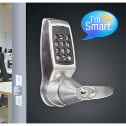 Codelocks Smart Lock, Netcode Enabled, Mifare Reader, Grade 2, Brushed Steel