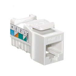 Leviton Home 6 Quickport Cat 6 Connector, T568A, White