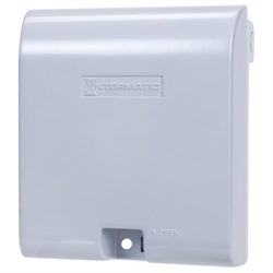 Intermatic Extra Duty Weatherproof Die Cast Receptacle Cover, Double Gang, Gray