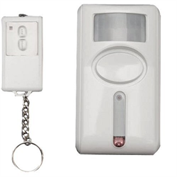 GE Wireless Motion Sensor Alarm with Keychain Remote