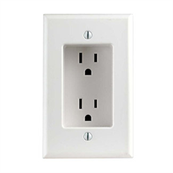 689 W Leviton Recessed Duplex Receptacle 125v 15a White