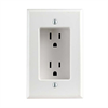 Leviton Recessed Duplex Receptacle 125V 15A White