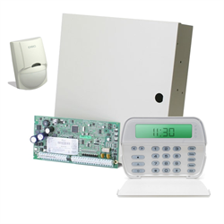 DSC Hybrid Wired and Wireless Alarm System Kit PC1832 with RFK Icon Keypad