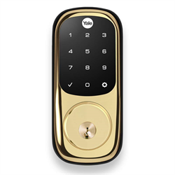 Yale Assure Touch Screen Smart Lock, Polished Brass