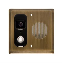 Logenex Teleport Flush Mount IP Video Door Station, Antique Brass
