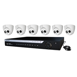 WatchNET HD over Coax Kit with 8CH DVR 2TB HDD + 6 x 4MP IR Turret Cameras