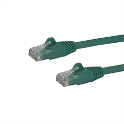 Startech CAT6 Molded Gigabit Patch Cable, 3 Foot 0.9 m , 650 MHZ, Green