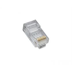 Platinum Tools RJ45 (8P8C), Cat5e HP, Round-Solid 3-Prong, 25 Pieces