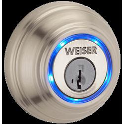 Weiser Kevo Bluetooth Smart Deadbolt Lock, Satin Nickel
