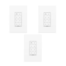 Insteon Dual Band Keypad Dimmer 8 Button White 3 Pack Promo