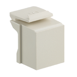 Leviton Quickport Blank Inserts Ivory, 10 Pack