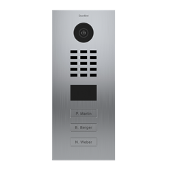 DoorBird MDU IP Video Door Intercom For 3 Tenants, 3 Call Buttons