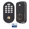 Yale Assure Lock Zwave Plus Push Button Deadbolt Oil Rubbed Bronze